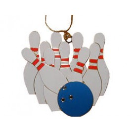 Brass Bowling Ornament