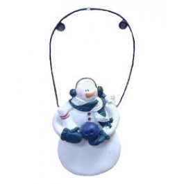 Wire Hanger Snowman Ornament