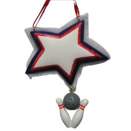 Personalizable Star Christmas Bowling Ornament