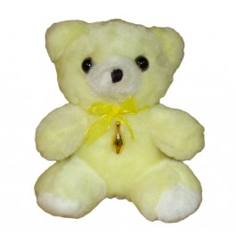 Yellow Bear with Goldtone Bowling pin