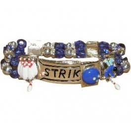 Blue beads Stretch Bowling Bracelet