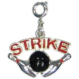Strike Zipper Pull Charm