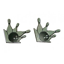 Black & Silver Bowling Magnets (Set of two)