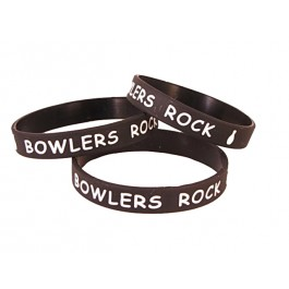 Black Silicone Bowlers Bracelet