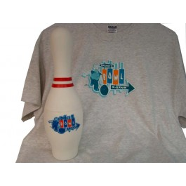 Bowling Pin with Simpson T-shirt