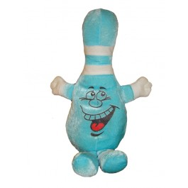 Stuffed Bowling Pin Buddy - Blue