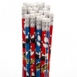 Bowling Design Pencils (Set of 12)