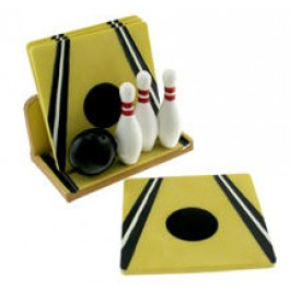 Bowling Ceramic Coaster Set