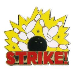 Bowling Strike Lapel Pin