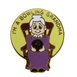 Bowling Grandma Lapel Pin
