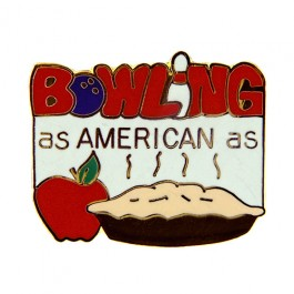 Bowling Apple Pie Lapel Pin