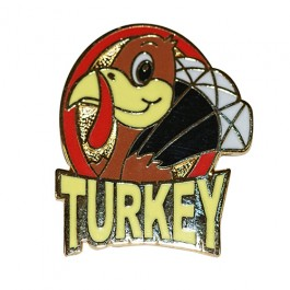 Turkey Lapel Pin