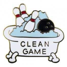 Clean Game Lapel Pin