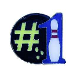 Number 1 Bowler Lapel Pin