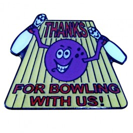 Thanks for Bowling Lapel Pin