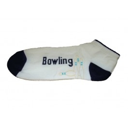 Ladies Bowling Ankle Socks - Beige Pins