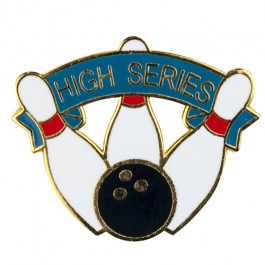 High Series Bowling Lapel Pin