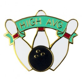 """High Average"" Bowling Lapel Pin"
