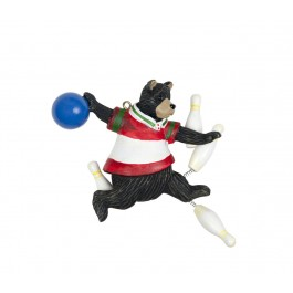 Bowling Bear Ornament