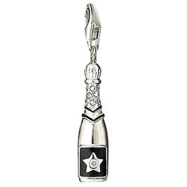 Silver Bowling Pin Charm