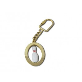 Brushed Goldtone w/ Bowling Pin Keychain