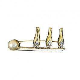Pearl Bowling Pins & Ball Pin