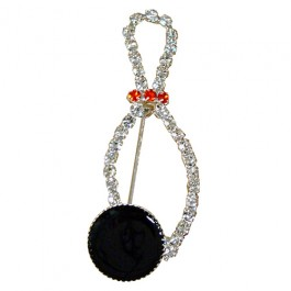 Bowling Pin & Ball Rhinestone Pin
