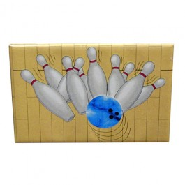 Splash of Bowling Pins Compact Mirror