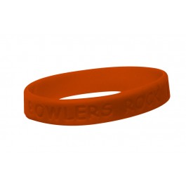 Silicone Bowlers Bracelet - Orange
