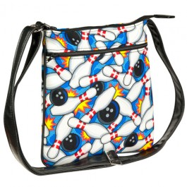 Bowling Pattern Crossover Body Shoulder Bag