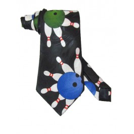 Circle Pins Bowling NeckTie