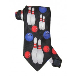 Pairs of Bowling Pins Necktie