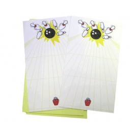 Yellow Bowling Lane Cards / Invitations Set of 2