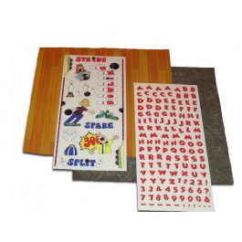 Bowling Scrapbooking Stickers