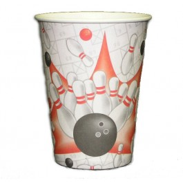 Bowling Birthday Party Drink Cups  - Set of 8