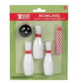 Bowling Ball & Pin Reusable Candle Holders