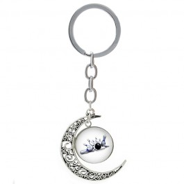 Bowling Strike Rotatable Moon Keychain
