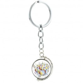 Colorful Bowling Strike Rotatable Swivel Keychain