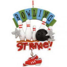 Strike Bowling Shoe Christmas Ornament