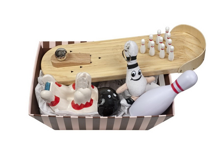 Office Bowling Gift Basket