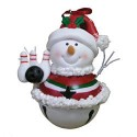 Santa Jingle Bell Ornament