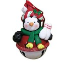 Jingle Bell Penguin with Santa Hat