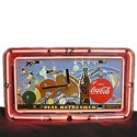 Neon License Plate Bowling Clock