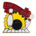 """I hit the Split"" Bowling lapel pin"