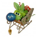 Gutter Hopper Sleigh Ornament Gift Package