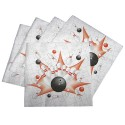 Bowling Birthday Party Napkins  - Set of 16
