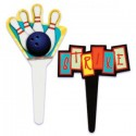 Bowling Cupcake Picks - 12 ct.