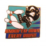 Knock'em Down Bowling Lapel Pin
