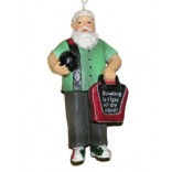 Retro Santa Christmas Ornament