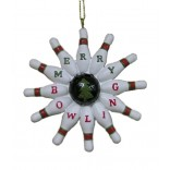 Bowling Pin Wreath Ornament